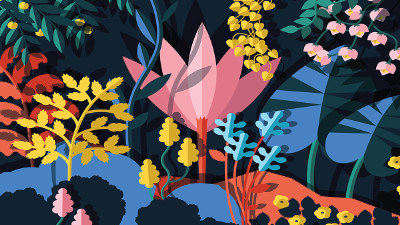flower painting illustration