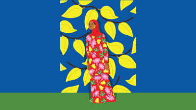 colorful illustration of woman